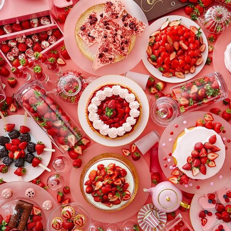 京王プラザホテル「ストロベリースイーツブッフェ~Berry Lovely Pink~」