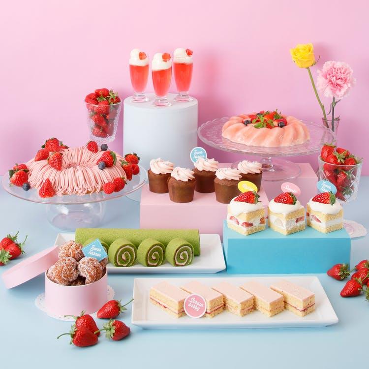 京都タワーホテル「Sweets Buffet ~Strawberry RETRO CAFE~」
