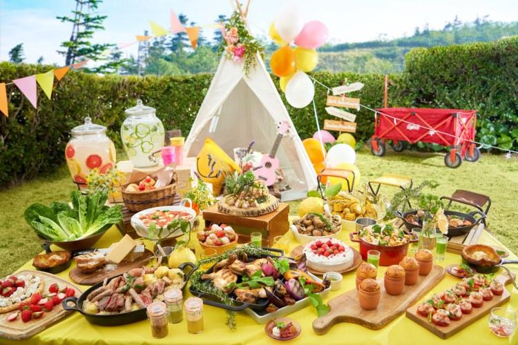 ヒルトン東京お台場「キュートなデザートビュッフェ ~Girl's Sweets Camping~」