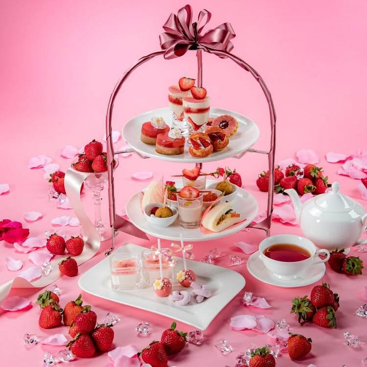 ラ・スイート神戸オーシャンズガーデン「Sweet Pink Strawberry Afternoon Tea