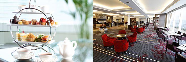 【神戸メリケンパーク】神戸メリケンパークオリエンタルホテル「色とりどりに並べたアフタヌーンティーセット」