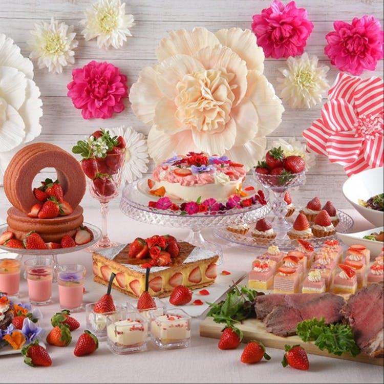 グランドプリンスホテル広島「ランチ&いちごスイーツ食べ放題 Very Berry Strawberry」