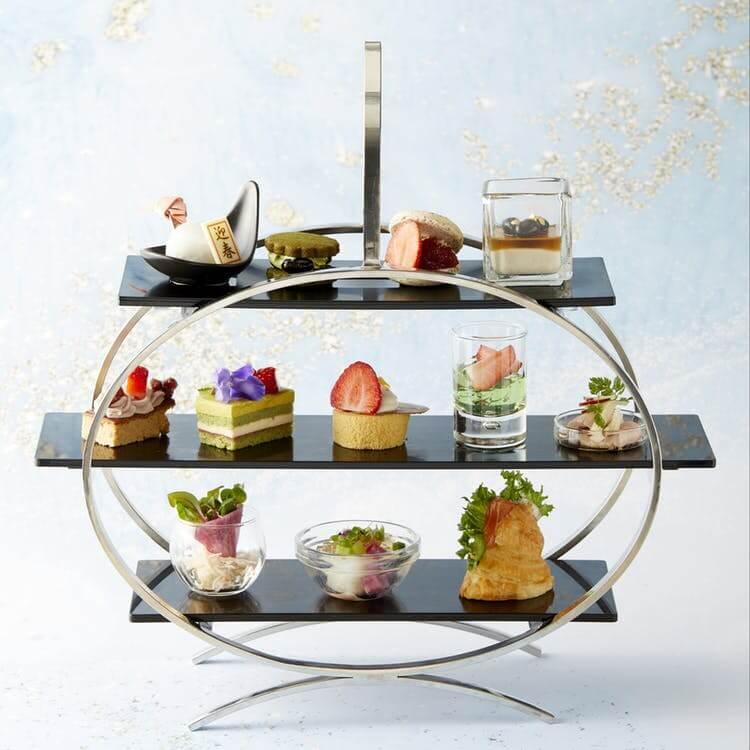 ザ・グラン ラウンジ 和×苺」のアフタヌーンティーセット