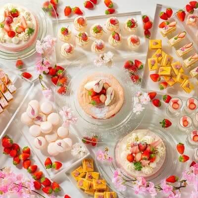 シェラトングランドホテル広島「ストロベリースイーツブッフェ 苺×桜」