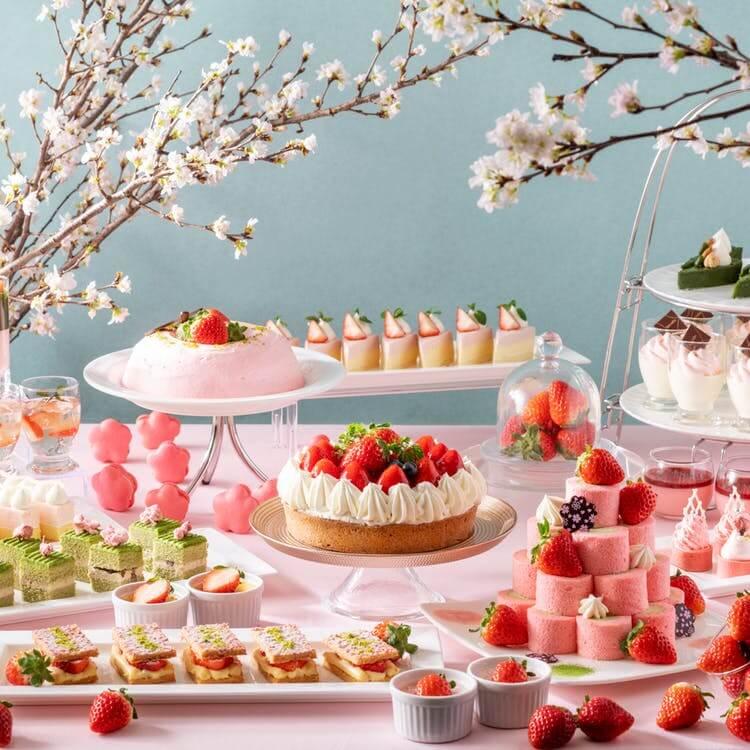 ANAクラウンプラザホテル広島「サクラサク♪ 苺と抹茶のスイーツブッフェ」