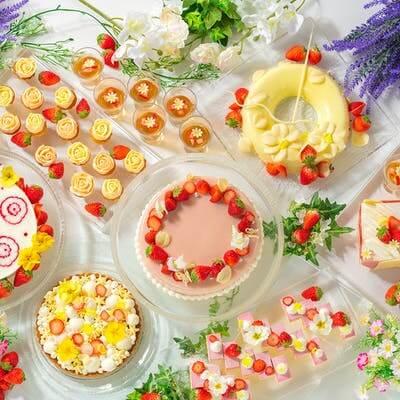 シェラトングランドホテル広島「ストロベリースイーツブッフェ 苺×フラワー」