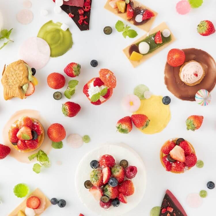 太閤園「いちごスイーツ&ランチブッフェ~Strawberry Color Drop~」