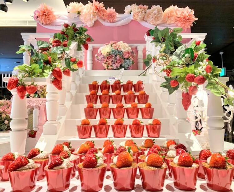【レポ】2020 ヒルトン大阪のいちごビュッフェ 「プリンセスの舞踏会」訪問レポート