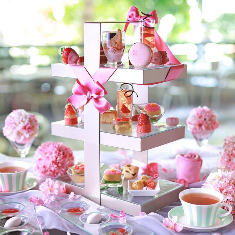 「Pink afternoon tea