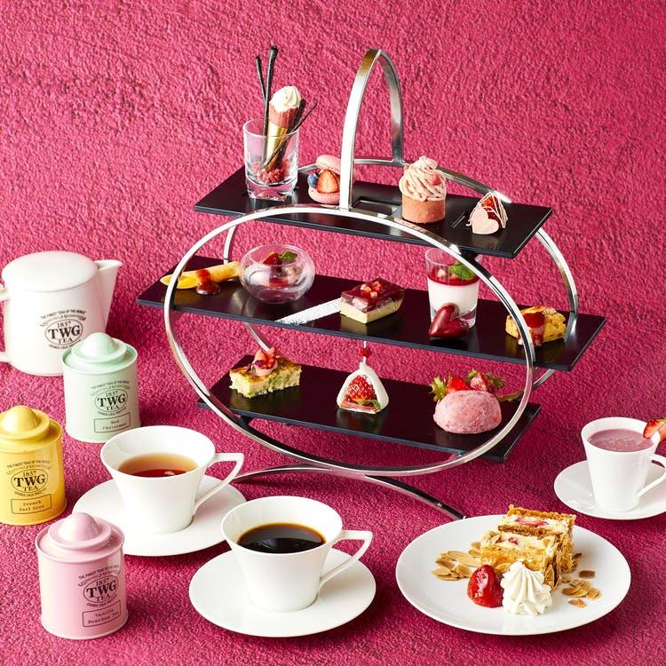 京王プラザホテル「Pink afternoon tea